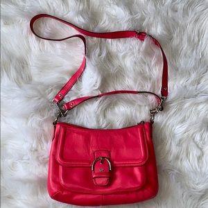 Neon Pink Coach purse